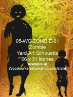 05-WC-ZOMBIE-81 - Blair the Zombie Silhouette Yard Art Woodworking Pattern