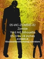 05-WC-ZOMBIE-82 - Jason the Zombie Silhouette Yard Art Woodworking Pattern