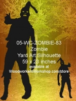 05-WC-ZOMBIE-83 - Damien the Zombie Silhouette Yard Art Woodworking Pattern