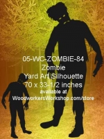 05-WC-ZOMBIE-84 - Anakin the Zombie Silhouette Yard Art Woodworking Pattern