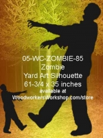05-WC-ZOMBIE-85 - Harry the Zombie Silhouette Yard Art Woodworking Pattern