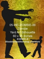 05-WC-ZOMBIE-86 - Noah the Zombie Silhouette Yard Art Woodworking Plan