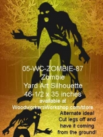 Chuckie the Zombie Silhouette Yard Art Woodworking Pattern