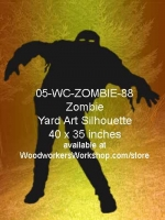 05-WC-ZOMBIE-88 - Malachi the Zombie Silhouette Yard Art Woodworking Plan