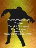 Malachi the Zombie Silhouette Yard Art Woodworking Plan