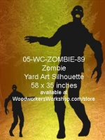 Freddy the Zombie Silhouette Yard Art Woodworking Pattern