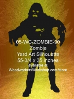 Yeti the Zombie Silhouette Yard Art Woodworking Pattern