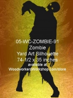 Norman the Zombie Silhouette Yard Art Woodworking Pattern