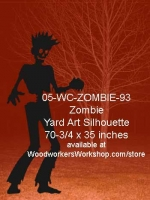 Colson the Zombie Yard Art Woodworking Pattern