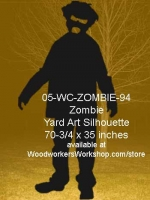 05-WC-ZOMBIE-94 - Barnabas the Zombie Yard Art Woodworking Pattern