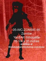 05-WC-ZOMBIE-95 - Maggie the Zombie Yard Art Woodworking Pattern