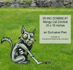 Mangy Cat Zombie Yard Art Woodworking Pattern