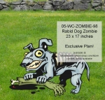 05-WC-ZOMBIE-98 - Rabid Dog Zombie Yard Art Woodworking Pattern.