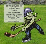 Hockey PlayerZombie Yard Art Woodworking Pattern