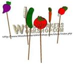 05-WP-005 - Veggie Garden Stakes Downloadable Scrollsaw Woodworking Plan PDF