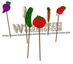 Veggie Garden Stakes Scrollsaw Woodworking Plan