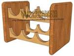 05-WP-016 - Stackable Wine Rack Downloadable Scrollsaw Woodworking Plan PDF