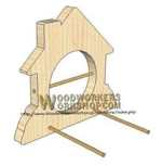05-WP-021 - Bird Feeder Plaque Downloadable Scrollsaw Woodworking Plan PDF