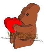 05-WP-022 - Teddy Bear Critter Downloadable Scrollsaw Woodworking Plan PDF