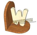 05-WP-026 - Initial Bookends Downloadable Scrollsaw Craft Pattern PDF