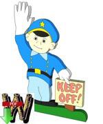 Lawn Cop Downloadable Scrollsaw Woodworking Plan