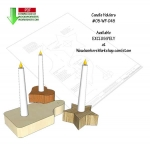 05-WP-045 - Candle Holders Downloadable Scrollsaw Woodworking Pattern PDF