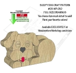 Sleepy Dog Downloadable Scrollsaw Woodworking Pattern