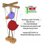 05-WP-051 - Bird Puppet Downloadable Scrollsaw Woodworking Pattern PDF