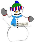 fee plans woodworking resource from WoodworkersWorkshop� Online Store - snowman,snowmen,winter,scrap wood projects,downloadable PDF,tole painting wood crafts,scrollsawing patterns,4-H Club,4H projects,scouts,girl guides,drawings,Accents In Pine,woodworking plans,woodworke