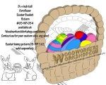 fee plans woodworking resource from WoodworkersWorkshop� Online Store - Easter baskets,egg hunt,scrap wood projects,downloadable PDF,tole painting wood crafts,scrollsawing patterns,4-H Club,4H projects,scouts,girl guides,drawings,Accents In Pine,woodworking plans,woodwork