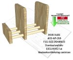 05-WP-058 - Book Slide Downloadable Scrollsaw Woodworking Pattern PDF