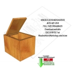 05-WP-059 - Hinged Lid Bandsaw Box Downloadable Scrollsaw Woodworking Pattern PDF