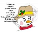 Snowman Ornament Downloadable Scrollsaw Woodworking Plan