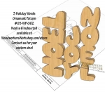 3 Holiday Words Downloadable Scrollsaw Woodworking Plan