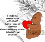 3-D Teddy Bear Downloadable Scrollsaw Woodworking Plan PDF woodworking plan