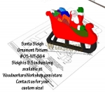 Santa in Sleigh Downloadable Scrollsaw Woodworking Plan PDF, Santa,sleigh,Christmas,scrap wood projects,downloadable PDF,tole painting wood crafts,scrollsawing patterns,4-H Club,4H projects,scouts,girl guides,drawings,Accents In Pine,woodworking plans,woodworke