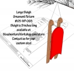 05-WP-065 - Christmas Sled Downloadable Scrollsaw Woodworking Plan PDF