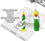 05-WP-069 - Christmas Candle Ornament Downloadable Scrollsaw Woodworking Plan PDF