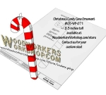 Christmas Candy Cane Ornament Scrollsaw Woodworking Plan