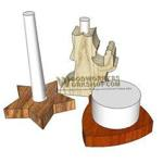 fee plans woodworking resource from WoodworkersWorkshop Online Store - christmas,candle holders,scrap wood projects,downloadable PDF,tole painting wood crafts,scrollsawing patterns,4-H Club,4H projects,scouts,girl guides,agricultural mechanics,Accents In Pine,woodworking