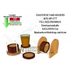 05-WP-077 - Coaster Sets Downloadable Scrollsaw Woodworking Pattern PDF