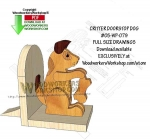 05-WP-079 - Critter Doorstop Dog Downloadable Scrollsaw Woodworking Pattern PDF