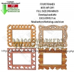 Four Frames Downloadable Scrollsaw Woodworking Pattern