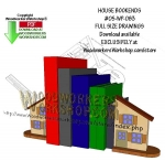 House Bookends Downloadable Scrollsaw Woodworking Pattern