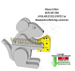 Mouse Critter Downloadable Scrollsaw Woodworking Pattern
