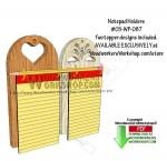 2 Notepad Holders Downloadable Scrollsaw Woodworking Pattern
