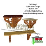05-WP-090 - 2 Shelving Brackets Group 2 Downloadable Scrollsaw Woodworking Pattern PDF