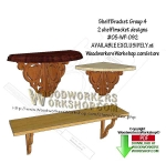 05-WP-092 - 2 Shelf Bracket Group 4 Downloadable Scrollsaw Woodworking Pattern PDF
