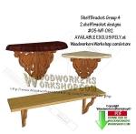 2 Shelf Bracket Group 4 Downloadable Scrollsaw Woodworking Pattern