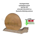 05-WP-093 - Snail Napkin Holder Downloadable Scrollsaw Woodworking Pattern PDF